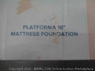 """Zinus Platforma 18"""" Mattress Foundation  queen"""