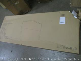 King Size Headboard Grey Fabric