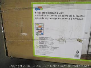 6 Tier Steel Shelving Unit