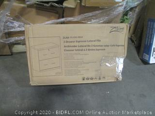 2-Drawer Espresso Lateral File