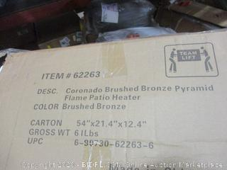Brushed Bronze Pyramid Flame Patio Heater