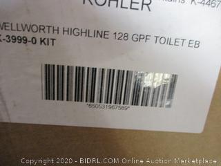 Kohler  Wellworth Highline 128 GPF Toilet incomplete  set