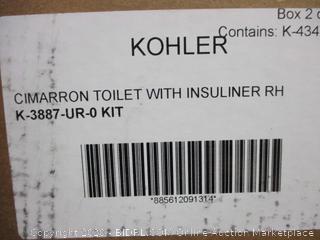 Kohler Cimarron Toilet with insuliner RH Incomplete set