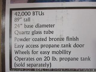 Hiland Glass Tube Propane Patio Heater