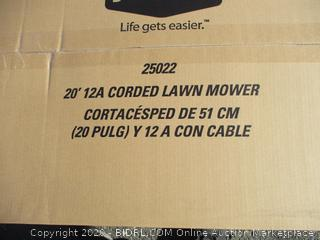"""Greenworks 20"""" 12A Corded Lawn Mower"""