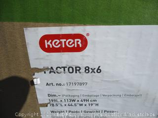 Keter Factor 8x6 incomplete set