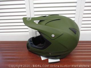MMG Motorcycle Helmet Off Road MX ATV Dirt Bike Motocross UTV, Military Green, Large, Includes Goggles