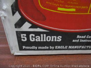 Eagle Red Galvanized Steel Type I Gasoline Safety Can with Funnel, 5 gallon Capacity