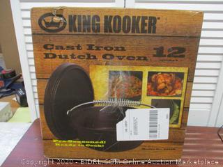 King Kooker 12 Quart Cast Iron Dutch Oven