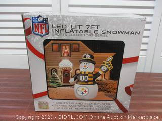 NFL Inflatable Steelers Snowman