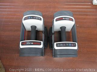 PowerBlock Sport 24 Adjustable Dumbbell, 24 lbs (Pack of 2) (Retail $170)
