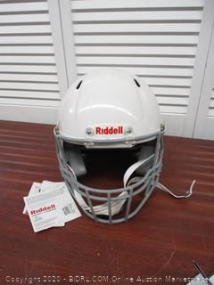 Riddell Victor Youth Helmet, White/Gray, Large (Retail $120)