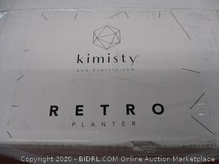 Kimisty Set 2 Mid Century Modern Ceramic Planters with Stand 8 Inch & 6 Inch Diameter