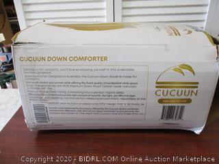 CUCUUN Real Luxury Down Comforter King Size  100% Egyptian Cotton 1200 TC 750+FP  White Goose Down Comforter
