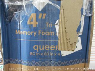 4 Inch Queen Trifold Mattress
