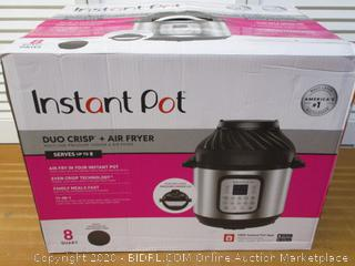 Instant Pot Duo Crisp 11-in-1 Air Fryer, Electric Pressure Cooker, Slow Cooker, Steamer, Saute, Sous Vide, Roast, Bake, Broil, and Warmer 8 Quart 11 One-Touch Programs