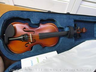 Mendini 1/32 MV300 Solid Wood Satin Antique Violin, 2-Bows, Rosin and Extra Strings
