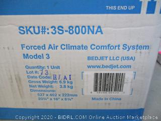 Forced Air Climate Comfort System (Powers On)