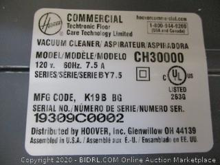 Hoover Commercial Vacuum Cleaner (Powers On)
