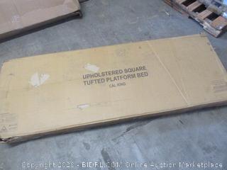 Upholstered Square Tufted Platform Bed (Cal King)