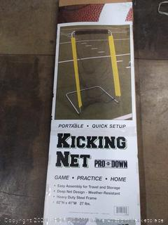 Pro down kicking net portable with quick setup