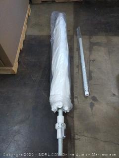 California umbrella 9 ft round aluminum market umbrella crank lift White