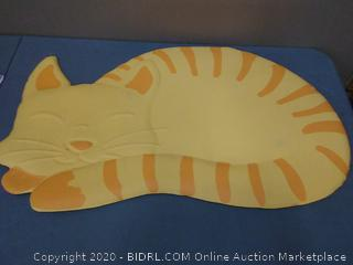 99 workspaces anti-fatigue Comfort mat cat pattern yellow and orange