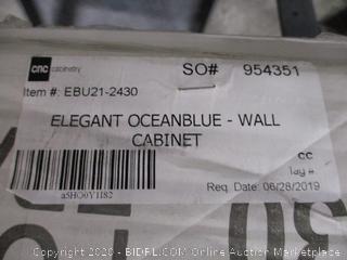 Elegant Ocean Blue Wall Cabinet