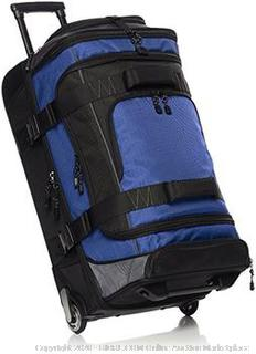 amazonbasics ripstop wheeled duffel 26in blue(Factory Sealed/Box Damage) COME PREVIEW!!!!! (online $69)