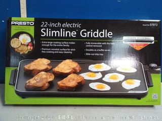 Presto 22 inch electric Slimline griddle(Factory Sealed)COME PREVIEW!!!!!