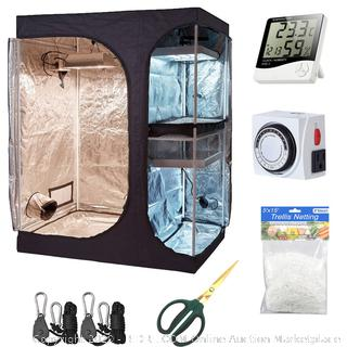 Hydro plus grow tent kit 60 in x 48 in X 82 in one indoor plant growing(Factory Sealed/Box Damage) COME PREVIEW!!!! (online $193)