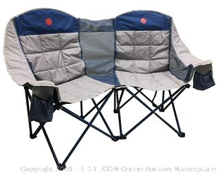 OmniCore Designs MoonPhase Home-Away LoveSeat Heavy Duty Oversized Folding Double Camp Chair Collection (Double Loveseat)