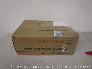 Pure Sine Wave Inverter (Box Damage) (Please Preview)