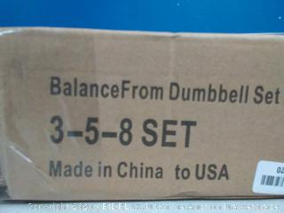 balancefrom dumbbell set 3 lb 5 lb 8 lb(Factory Sealed/Box Damage) COME PREVIEW!!!!