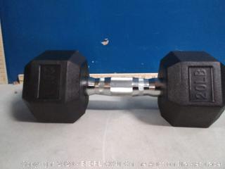 amazonbasics rubber encased hex dumbbell 20 lb