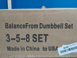 balancefrom Dumbbell set 3 lb 5 lb 8lb(Factory Sealed/Box Damage) COME PREVIEW!!!!