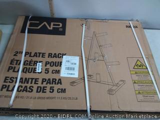 2 inch plate rack