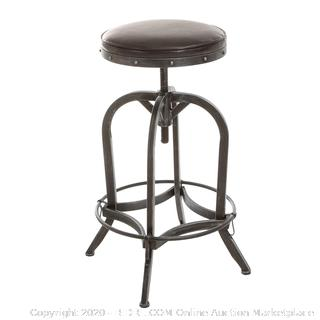 Christopher Knight Home Dempsey Swivel Adjustable Bar Stool, Brown (online $110)