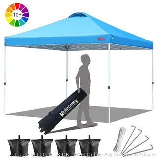 master mcanopy pop-up canopy 10 x 10 sky blue (online $119)