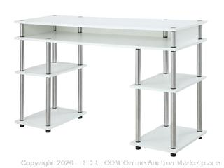 Convenience Concepts Modern No Tools Student Desk, White