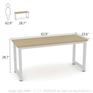 Tribesigns Computer Desk, 63 inch Large Office Desk Computer Table Study Writing Desk Workstation for Home Office, Walnut (online $165)