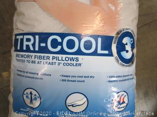 Platinum Tri-Cool Memory Fiber Pillows Jumbo 2-Pack
