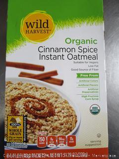 Wild Harvest Organic Cinnamon Spice Instant Oatmeal