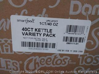 Smartfood 40 pack count Kettle Variety Pack