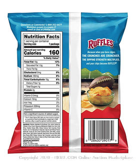 Ruffles Potato Chips 40 pack count Cheddar Sour Cream