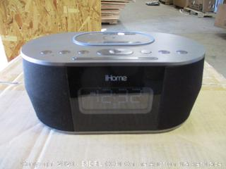 iHome- iBTW38- Dual Alarm Clock Stereo Speaker System w/ Qi Wireless Charging