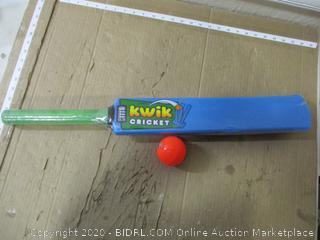 Kwik Cricket Bat and Ball