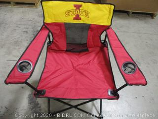 Iowa State Folding Chair with Mesh Back and Carry Bag (See Pictures)