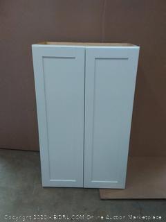 white double door cabinet