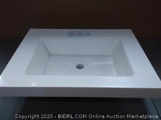 solid white vanity top